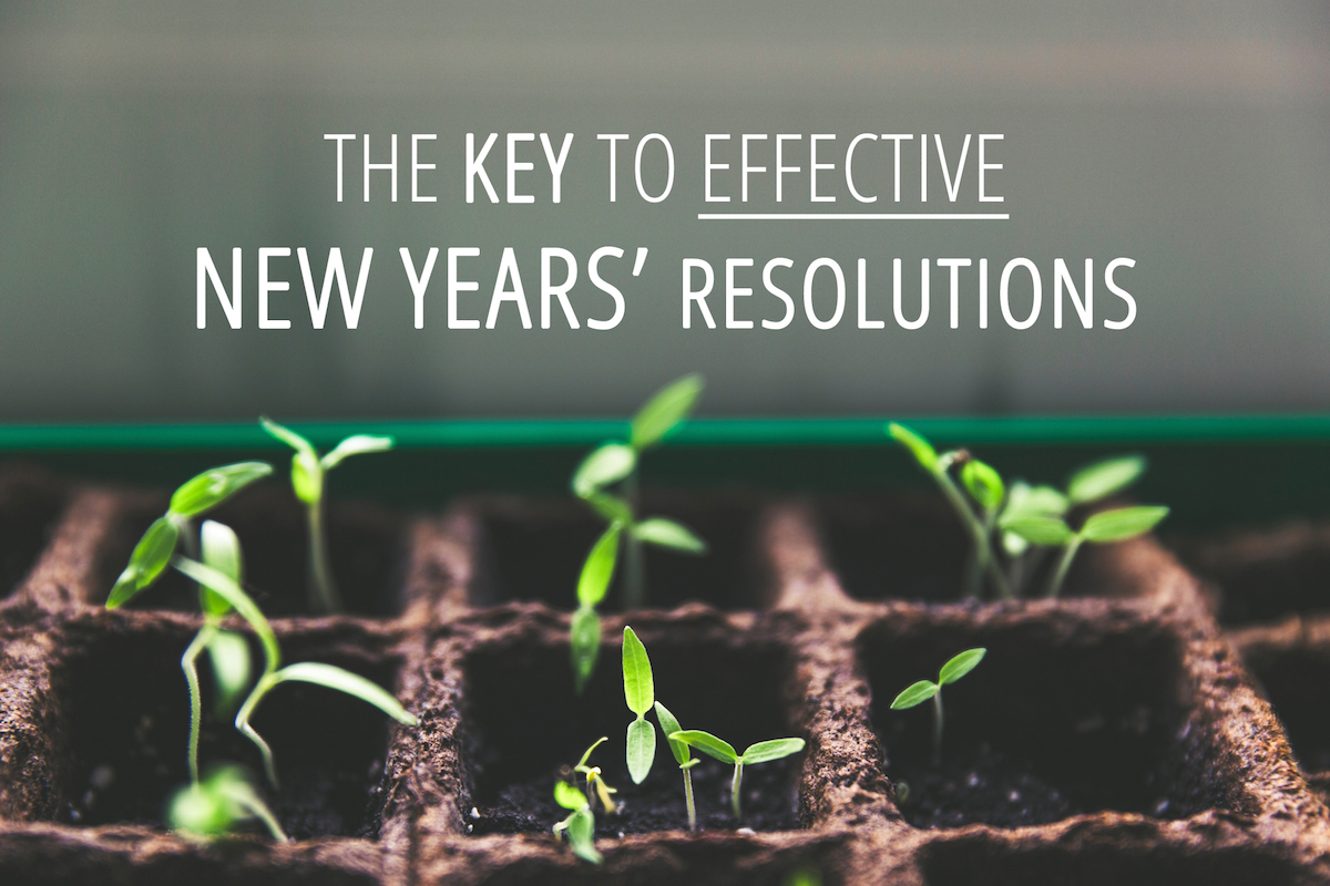 The key to effective new years resolutions